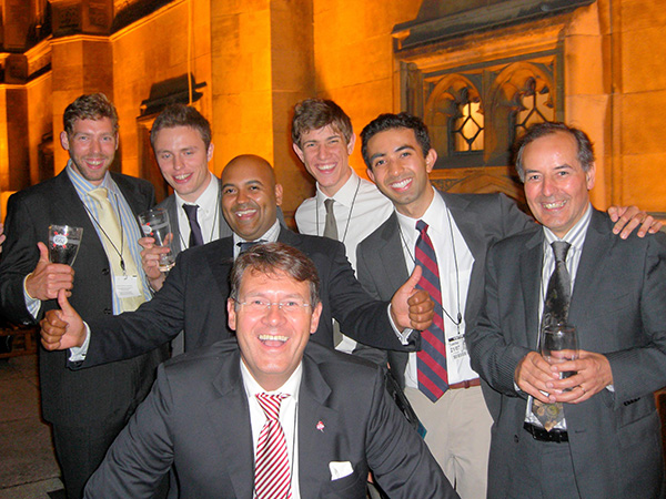 Celebrating with RWE power CEO Volker Becker at the Houses of Parliament